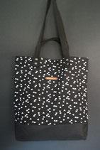 201. Freizeittasche schwarz Dreieck Baumwolle/ schwarz