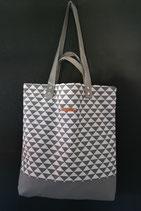 20. Freizeittasche Dreieck grau Baumwolle/ grau