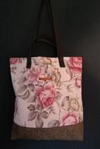 123. Freizeittasche Beige Rose Canvas/ matt braun