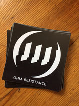 OHM Resistance - LTD Sticker - Logo