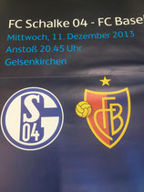 Matchplakat: FC Schalke 04 vs. FCB (Champions League 13/14) mit Originalunterschrift