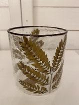 Glasvase oder Windlicht mit eingegossenem Zweig dia 10cm h 10cm