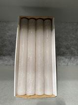 4 Stabkerzen durchgefärbt warm grey 34/300mm Brennzeit 30Std
