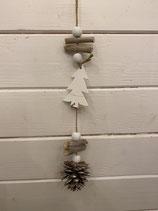 Anhänger Kette Zapfen mit Baum Länge 28cm
