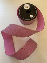 Dekoband blush pink glitzer 2m lang 4cm breit