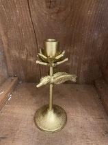 Kerzenständer Vogel Gold für Stabkerzen h 19cm dia 5cm