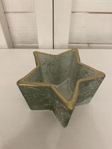 Windlicht Glas Stern grün 10x10cm