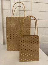 Geschenktüten Set 2tlg Papier braun mit Sternen
