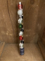 9 Glaskugeln mix Kugeln und Schneemann 4cm