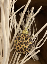 Kugel samt Leopard dia 8cm