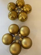 10 Glaskugeln gold matt und glänzend dia 6cm