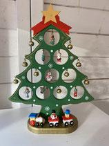 Deko Weihnachtsbaum Holz mit Glöckchen