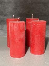 4 Kerzen durchgefärbt rot 70/150mm Brennzeit 60Std