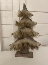 Holzbaum braun mit plüsch h25cm