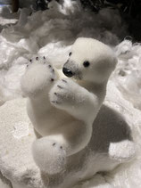 Eisbär liegend 17x19cm