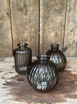 3er Set Vase schwarz 10cm