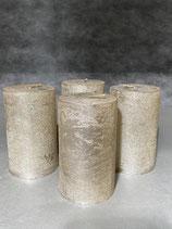 4 Kerzen durchgefärbt platin lackiert 60/100mm Brennzeit 38Std