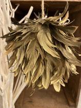 Federkugel zum Hängen Gold dia 12cm