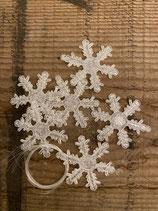 Glitzereiskristalle transparant mit Nylonfaden 4,5cm