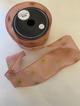 Dekoband blush pink gold stern 2,7m lang 6,3cm breit