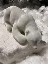 Eisbär liegend Plüsch 28cm