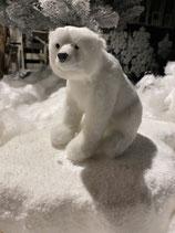 Eisbär sitzend Plüsch 13x13cm