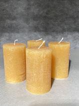 4 Kerzen durchgefärbt honig 50/80mm Brennzeit 20Std