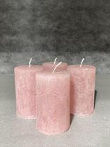 4 Kerzen durchgefärbt rosenholz 50/80mm Brennzeit 20Std