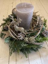 Adventsgesteck mit Kerze Nature's Elegance