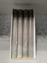 4 Stabkerzen durchgefärbt pinie 34/300mm Brennzeit 30Std