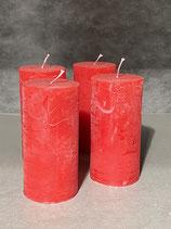 4 Kerzen durchgefärbt rot 60/120mm Brennzeit 45Std