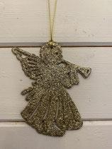 Anhänger Engel gold Glitzer 11cm