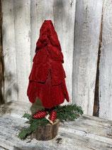 Samtbaum mit Zapfen h 40cm