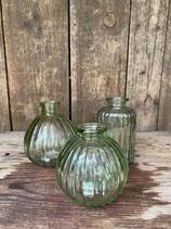 3er Set Vase grün 10cm