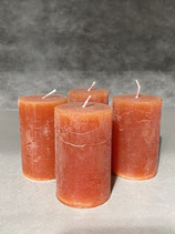 4 Kerzen durchgefärbt cognac 50/80mm Brennzeit 20Std