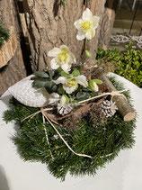 Adventsgesteck Christrose großer Winter