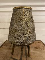 Laterne Tasmine Dreibein Gold antik 18x28cm