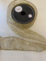 Dekoband gold Afrika Muster glitzer 2,7m lang 6,3cm breit