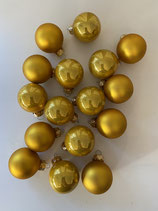 16 Glaskugeln gold glänzend/matt mix dia 3,5cm
