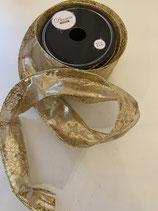 Dekoband gold glänzend Muster 2,7m lang 6,3cm breit