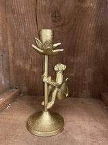 Kerzenständer Affe Gold für Stabkerzen h 19cm dia 5cm