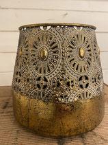 Laterne Tasmine Gold antik 16x19cm