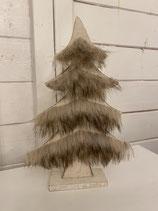 Holzbaum weiss mit plüsch h25cm