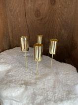 4 Stabkerzenhalter gold dia 2cm