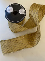 Dekoband gold Muster glitzer 2,7m lang 6,3cm breit