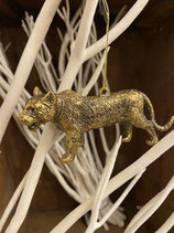 Tiger Hänger Gold 6x12cm