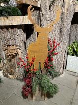 Dekokasten gesteckt Hirsche h 92cm l 20cm b 20cm