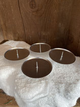 4 Kerzenhalter silber dia 8cm