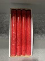 4 Stabkerzen durchgefärbt rot 34/300mm Brennzeit 30Std