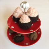 Cupcakes klein für die Spielküche oder als Deko - einzeln